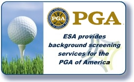 ESA provides employment screening services for PGA America